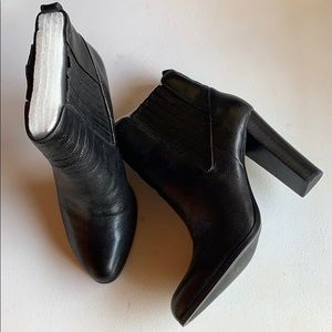 Nine West black leather booties! Never worn.